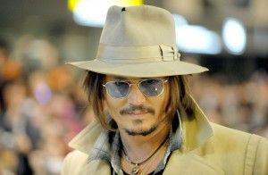Johnny Depp's blue shades