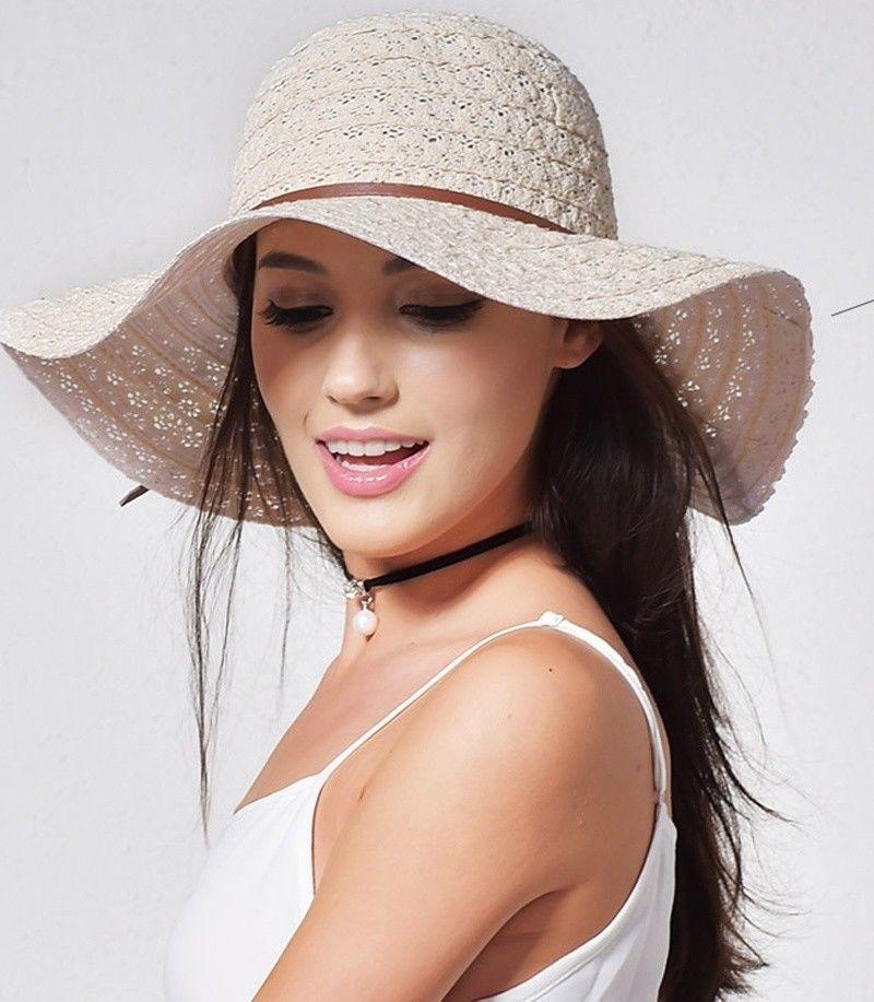 0b76638682d Summer Straw Hats Women Fashion Design Foldable Beach Sun hat ...