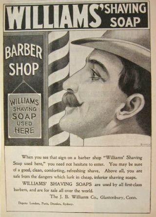 Wall art. Reproduction Vintage Hair Barbering advert poster Jims barbers