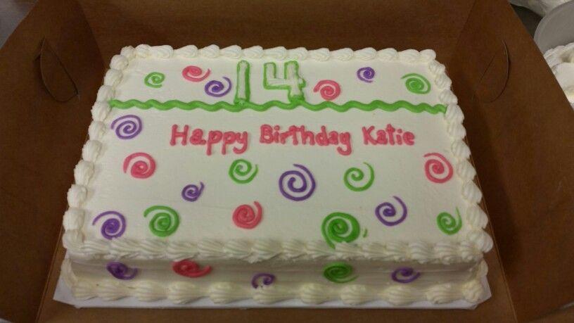 Birthday Cake For 14 Year Old Girl Cakes For Bakery Pinterest