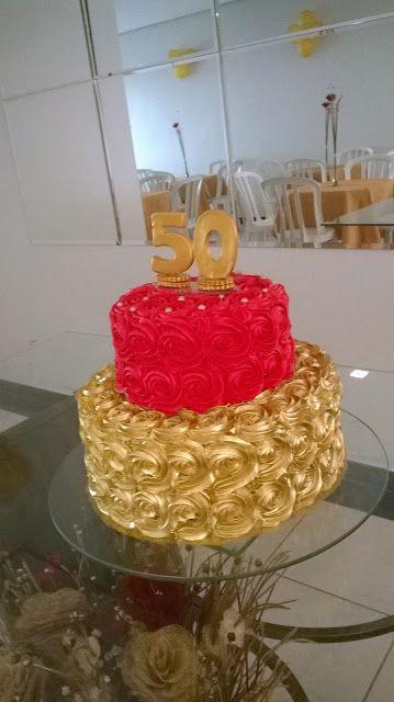 Decoração Para Festa De 50 Anos Bolos De Aniversário De 50