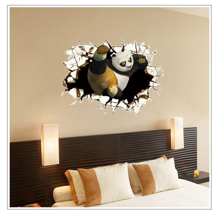 3D Wall Stickers Kung Fu Panda Children