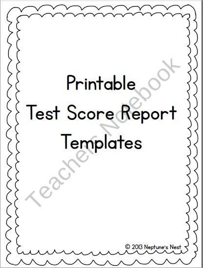 Printable Test Score Report Templates from Neptuneu0027s Nest on - free report templates