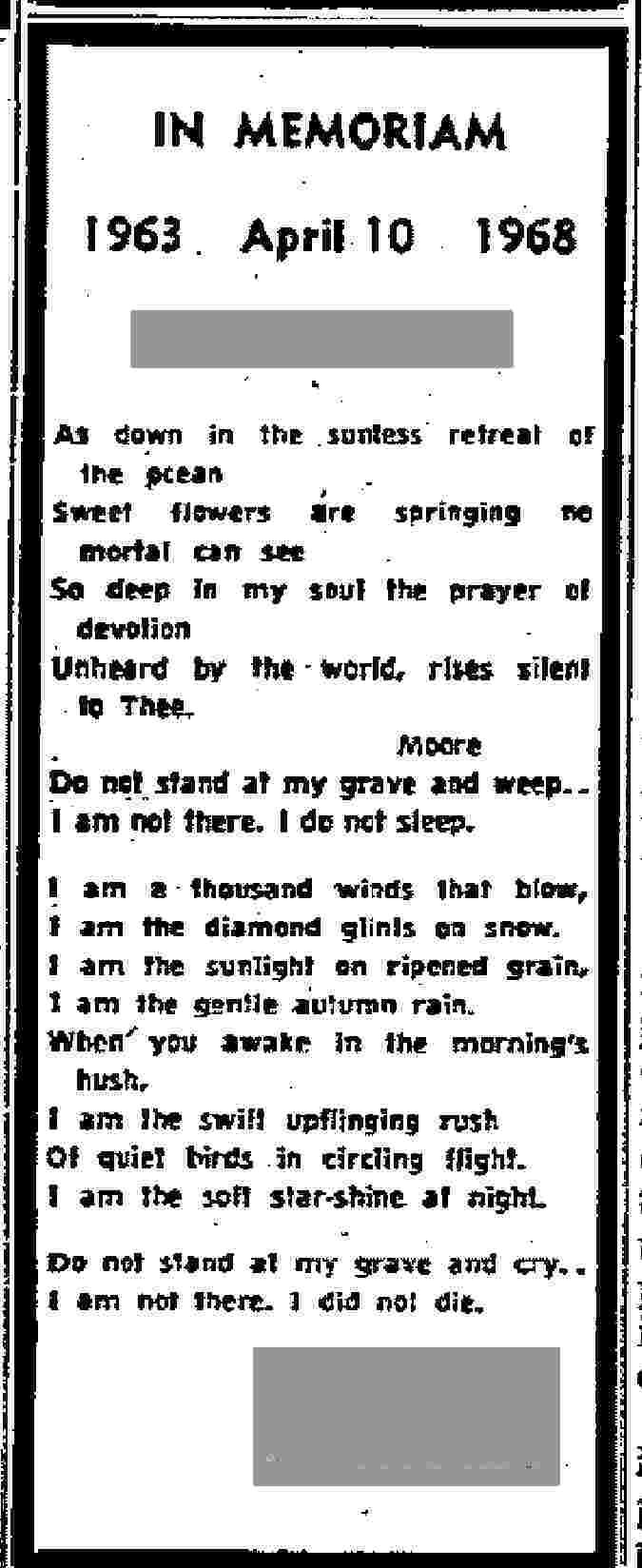 Amazing Poem Do Not Stand At My Grave And Weep Famous