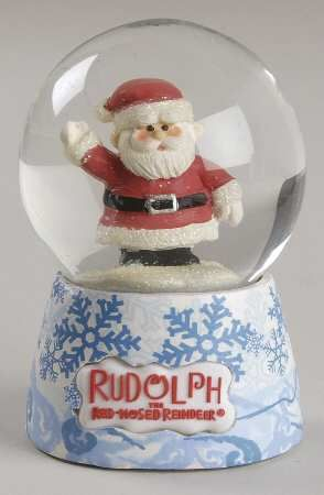 Santa Snow Globe - Boxed in the Rudolph The Red-Nosed Reindeer pattern by Roman