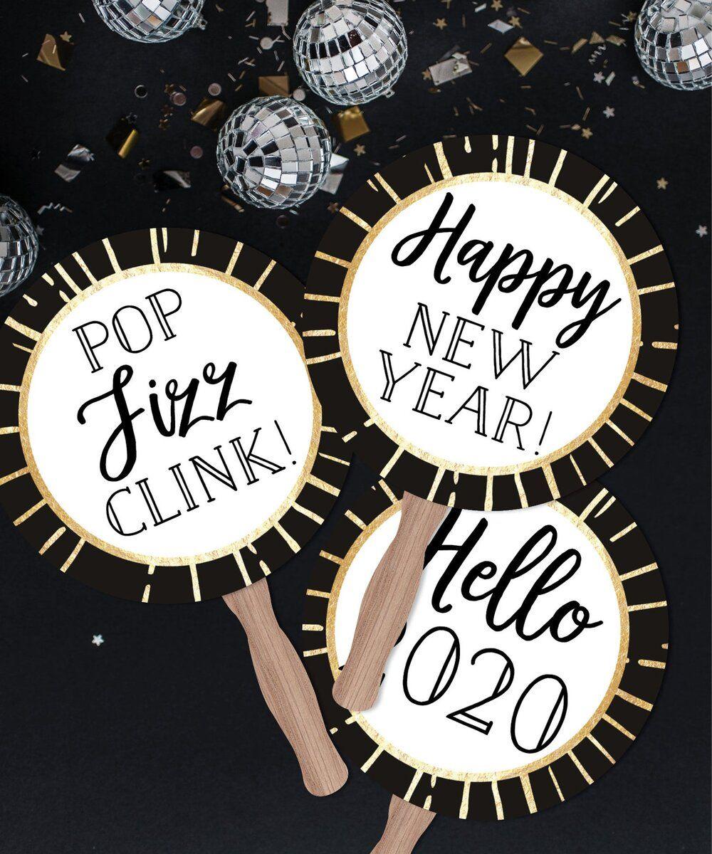 Happy New Year 2020 New Years Eve Party Photo Props