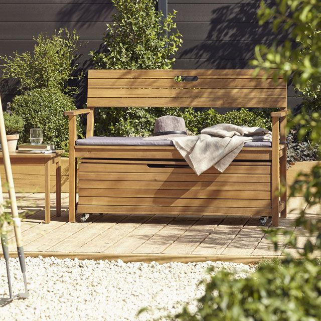 banc de jardin denia avec dossier. Black Bedroom Furniture Sets. Home Design Ideas