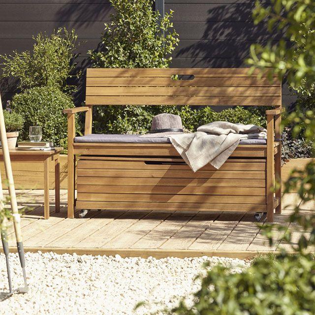 Banc de jardin Denia avec dossier - CASTORAMA | Jardin ...