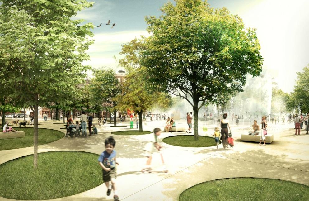 Build An Urban Park Francine Landshaft Arhitekturnye Eskizy Plener