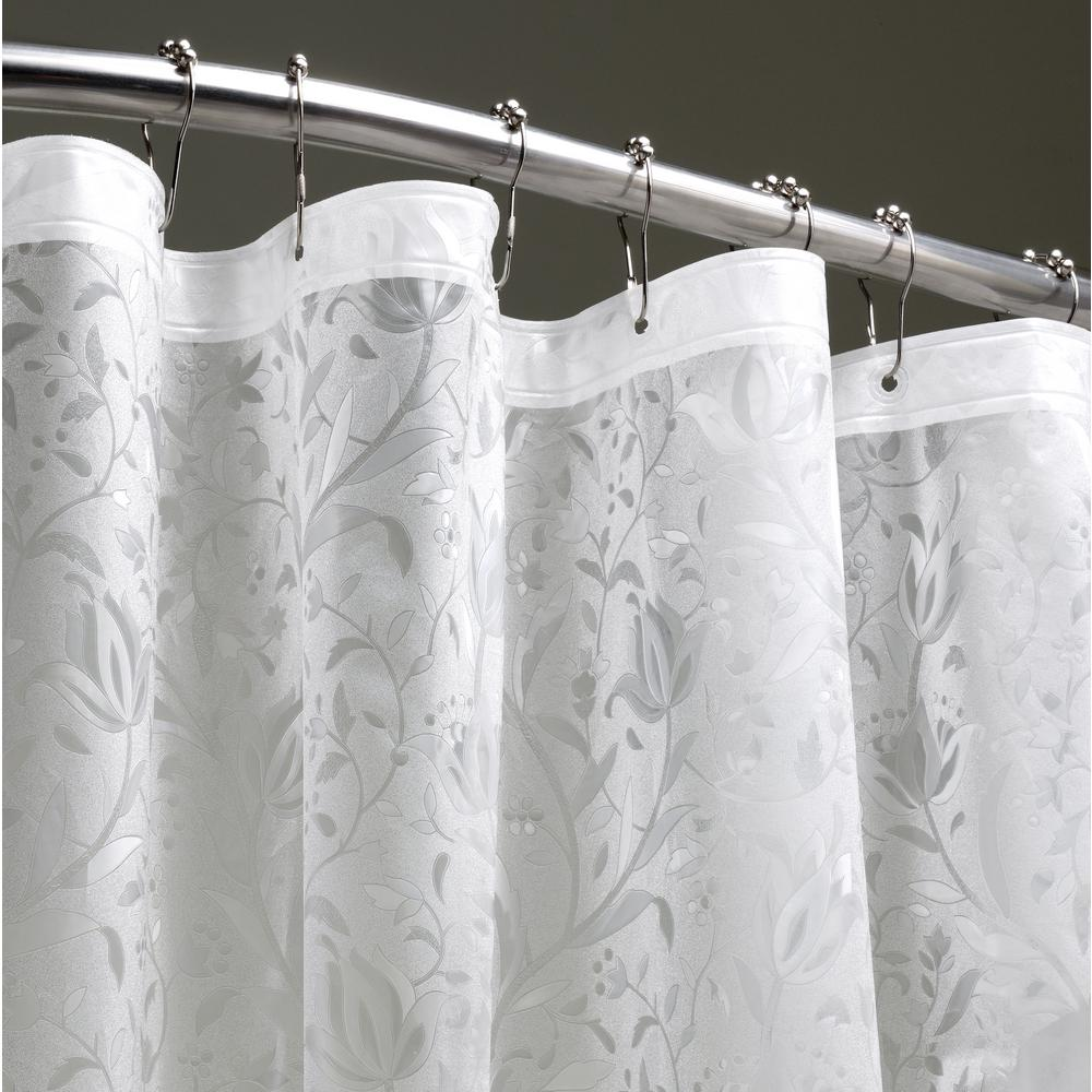 Dainty Home Floral 72 In Clear 3d Shower Curtain Fl3dcl Vinyl