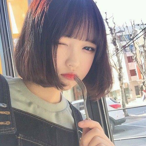 Pintereѕt Nadynnn Short Hair Styles Cute Korean Girl Girl Short Hair