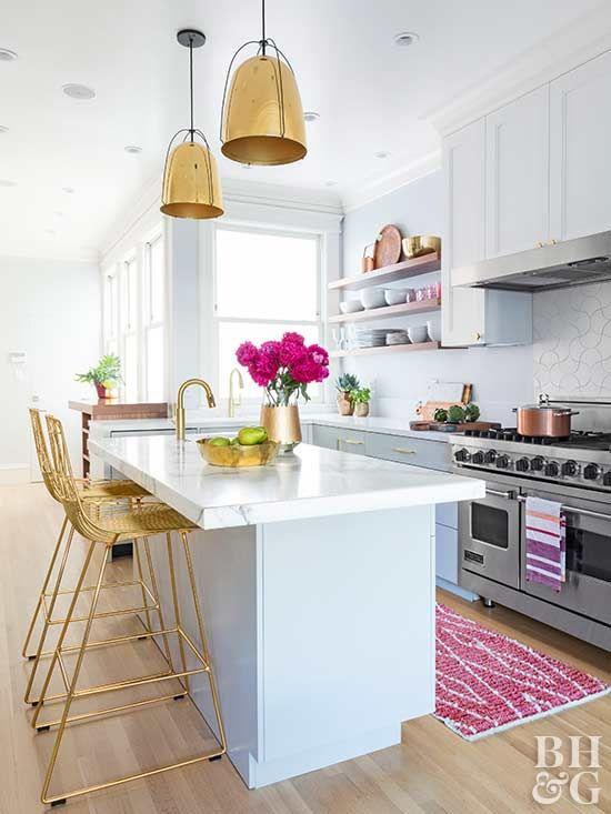 modern glam kitchen makeovers bhg s best home decor inspiration rh pinterest com