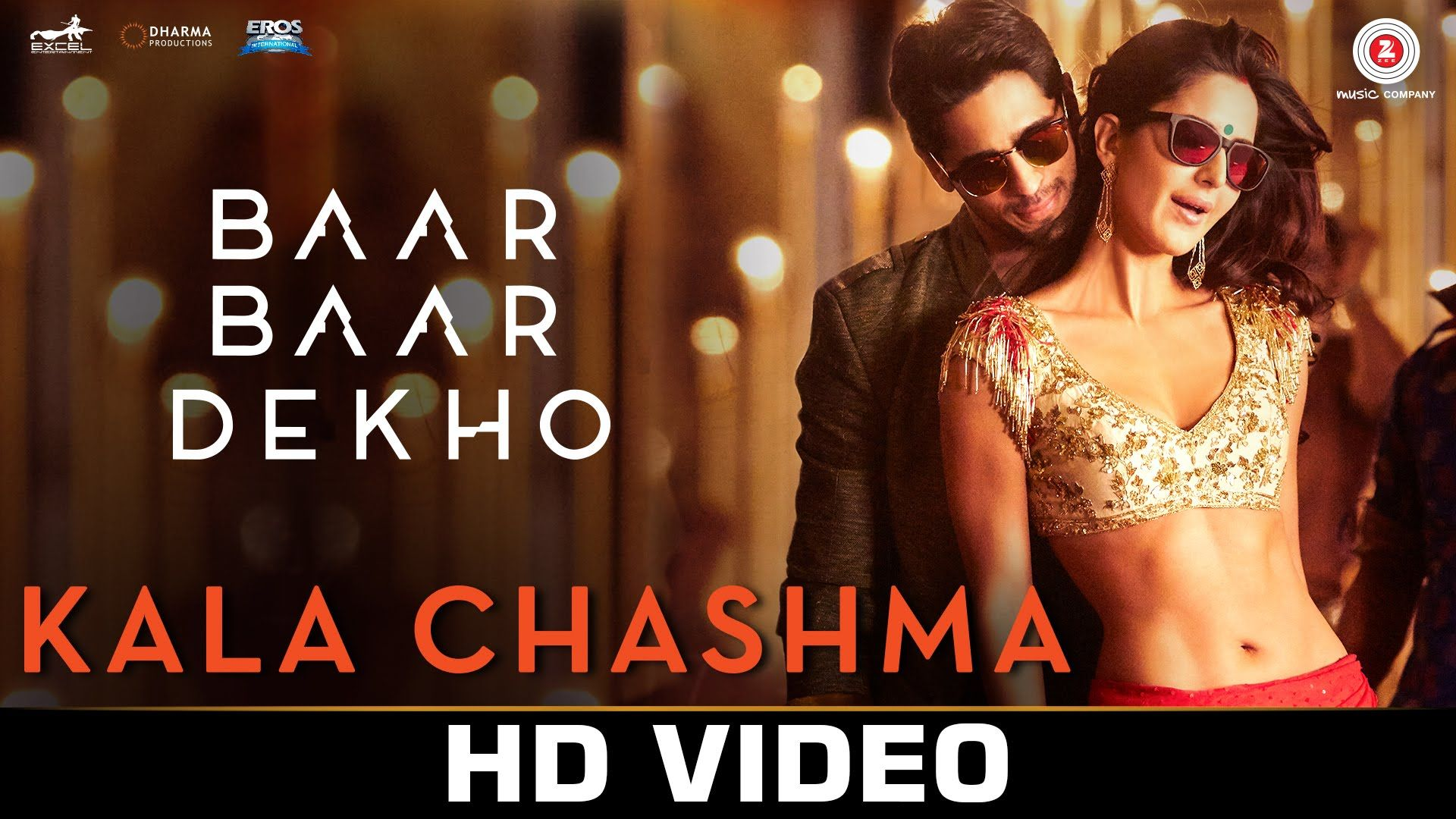 Kala Chashma Baar Baar Dekho 2016 In Mp4 Hd Normal And 3gp Bollywood Video Mirchiwap Updates Bollywood Music Videos Baar Baar Dekho Indian Video So