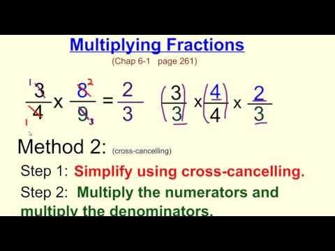 Multiplying Fractions W Cross Canceling