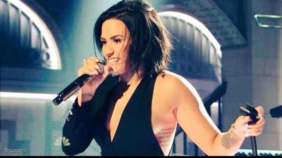 Demi on Saturday Night Live October 2015