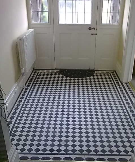 The original tile floor found in a 1930's English bungalow