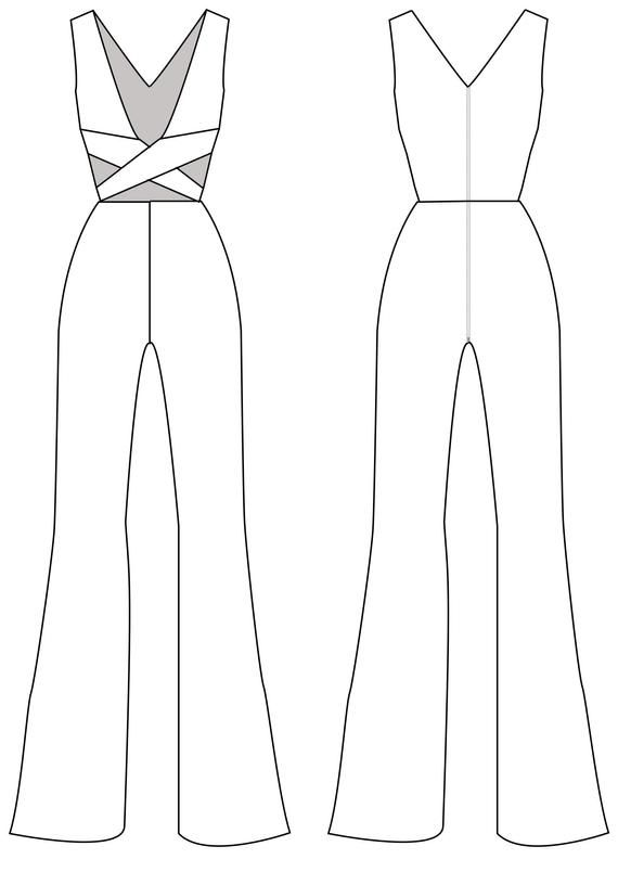 Photo of Jumpsuit sleeveless, women jumpsuit pattern, cut-off jumpsuit