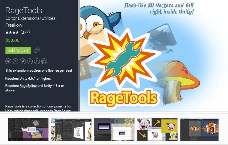 RageTools Unity Asset Store Unreal Engine Unity Games