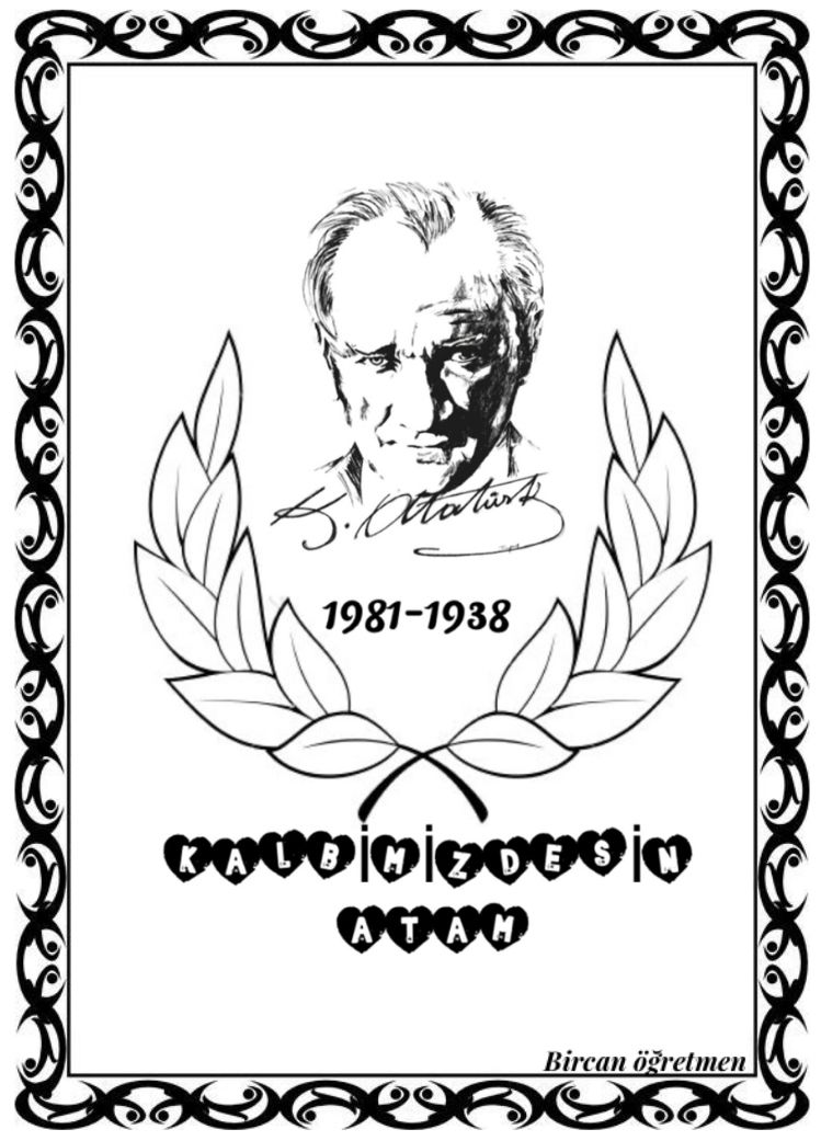Ataturk Haftasi Boyama Sayfalari Faaliyetler Boyama Kitaplari