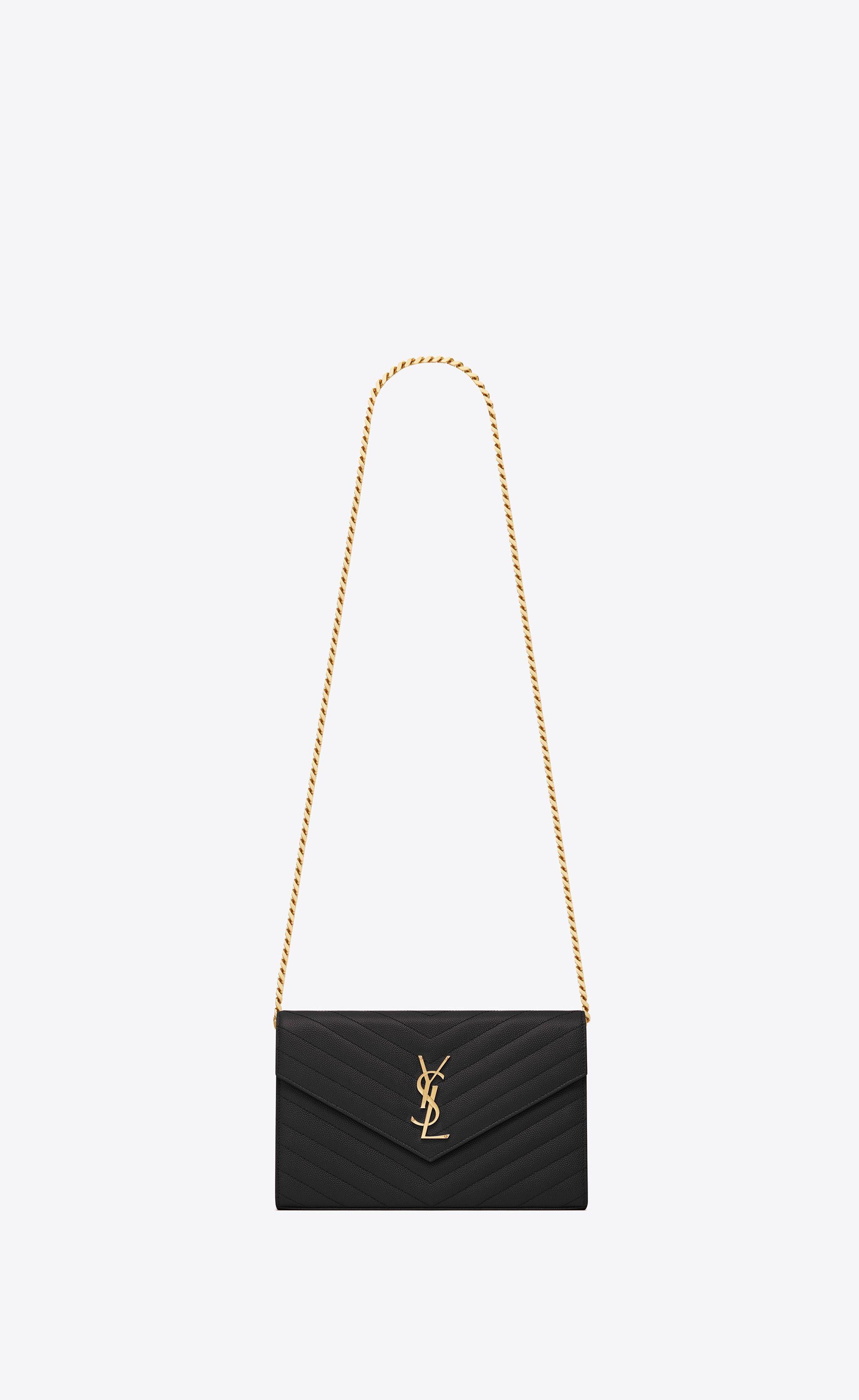 850762c4c9 SAINT LAURENT Mini bags Matelassé Woman MONOGRAM chain wallet in ...