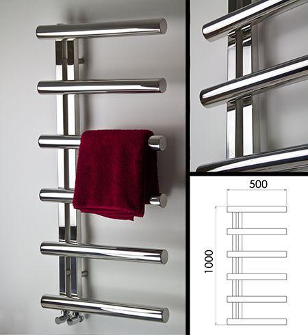 radiateur s che serviette tubulaire en acier inoxydable poli 145b misc pinterest. Black Bedroom Furniture Sets. Home Design Ideas