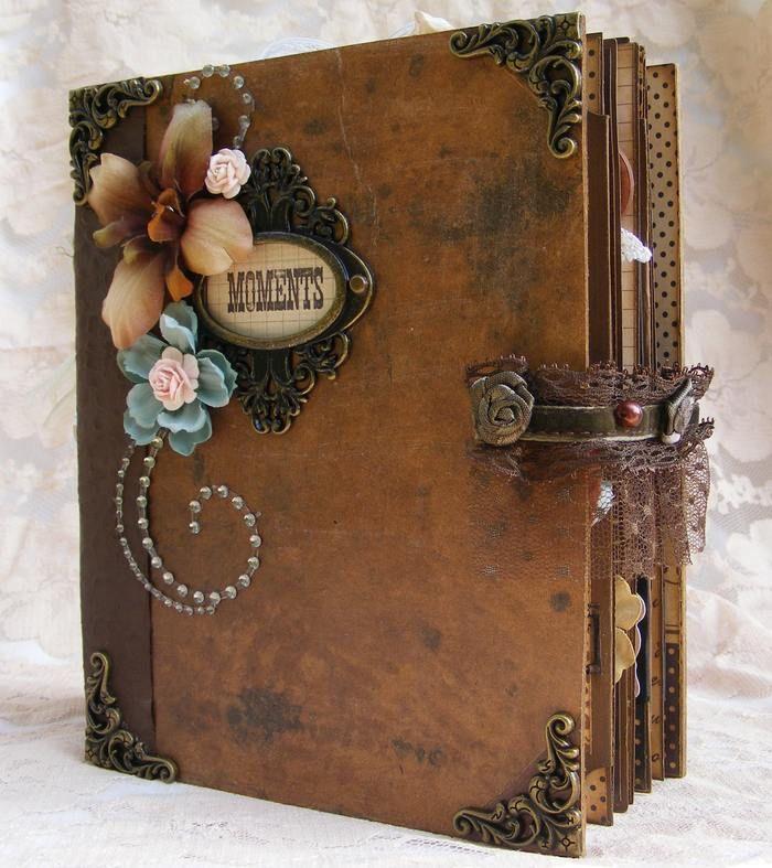 Elite4u Toni Vintage Style Premade Scrapbook Album Prima Flower Paper Piecing Ebay Albuns De Scrapbook Cadernos Decorados Mini Album Scrapbook