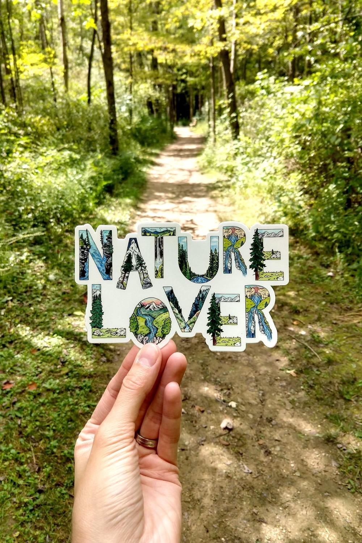 Nature Lover Vinyl Sticker Nature Stickers Vinyl Sticker Nature Lover