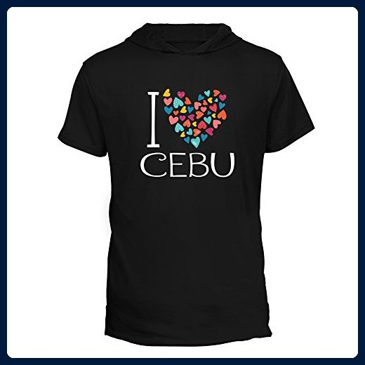 Idakoos - I love Cebu colorful hearts - Cities - Hooded T-Shirt - Cities