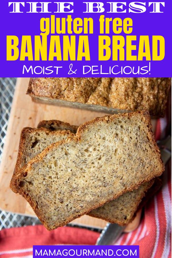 Moist Gluten Free Banana Bread Recipe In 2020 Gluten Free Banana Best Gluten Free Banana Bread Recipe Gluten Free Banana Bread