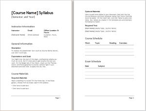 Course Syllabus Template Syllabus Template Syllabus Template High Schools Syllabus