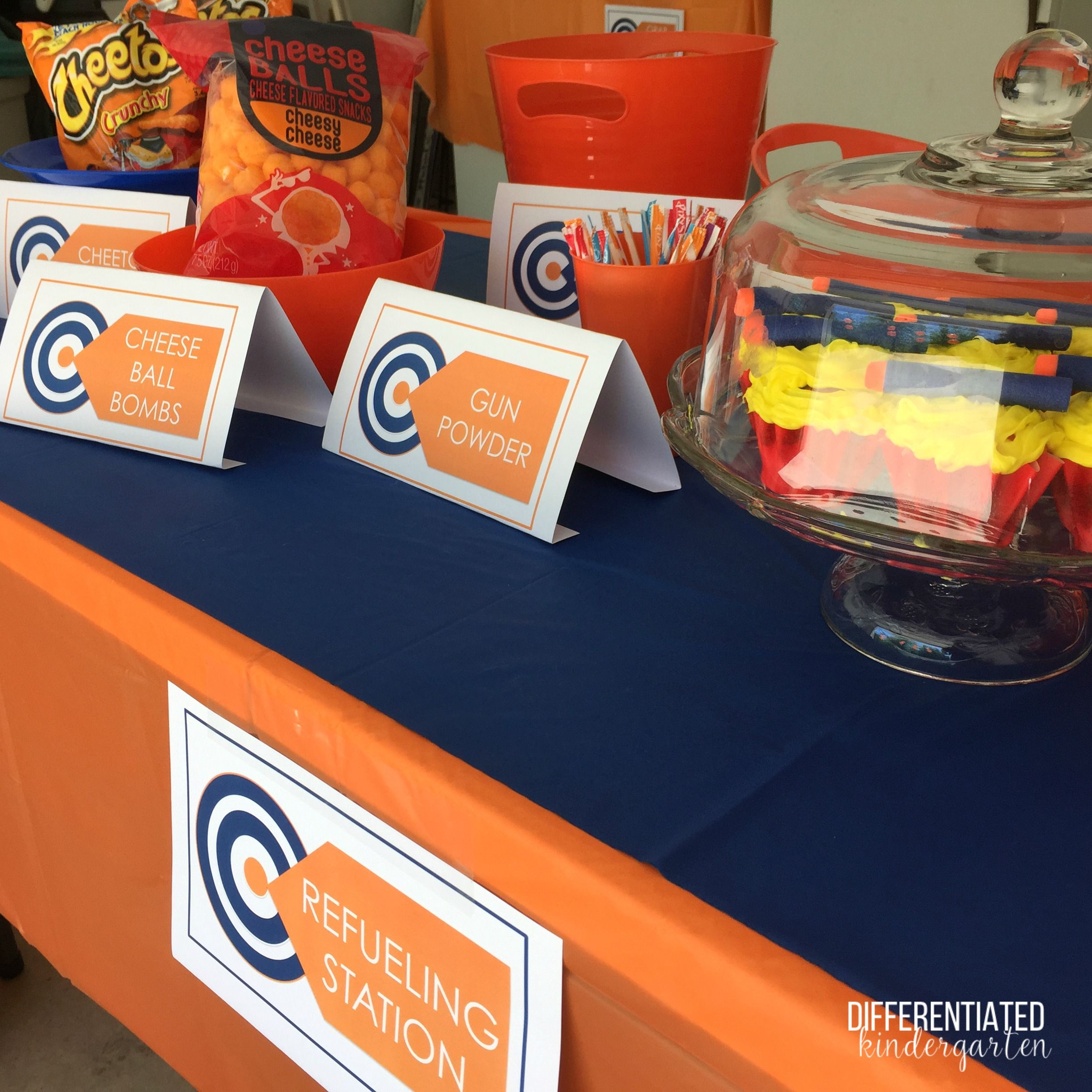 it s nerf or nothing party time birthday party ideas pinterest