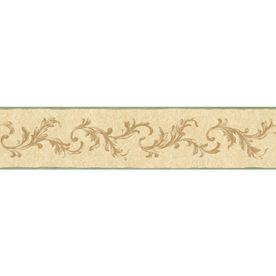 "Sunworthy 41/8"" Traditional Scroll Prepasted Wallpaper"