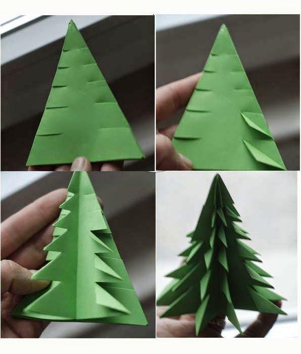 Origami Christmas.3d Origami Tree Craft Ideas Origami Christmas Tree