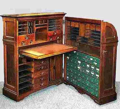Escritorio de nogal moore office queen usa 1878 unico for Muebles escritorios clasicos