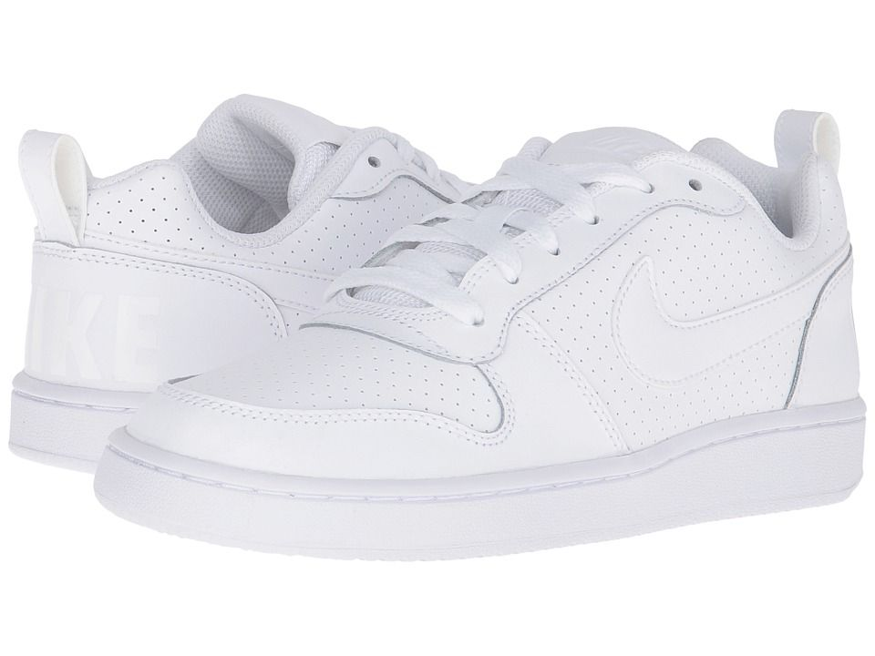 53def710f8922 NIKE NIKE - COURT BOROUGH LOW (WHITE WHITE WHITE) WOMEN S LACE UP CASUAL  SHOES.  nike  shoes