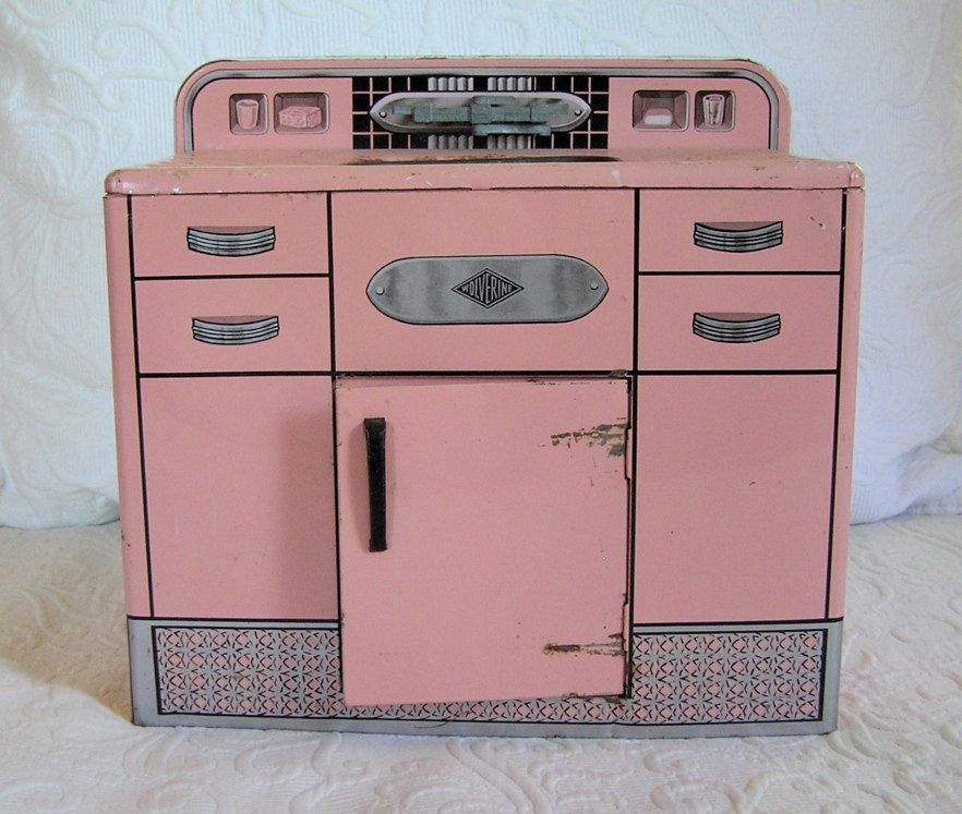 vintage kitchen sinks | Vintage Pink Wolverine Metal Kitchen Sink ...
