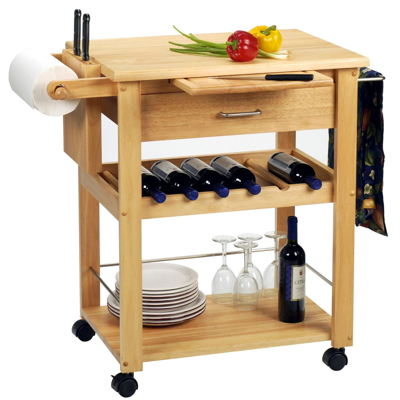 Winsome Deluxe Kitchen Cart By OJ Commerce 83634   $242.04