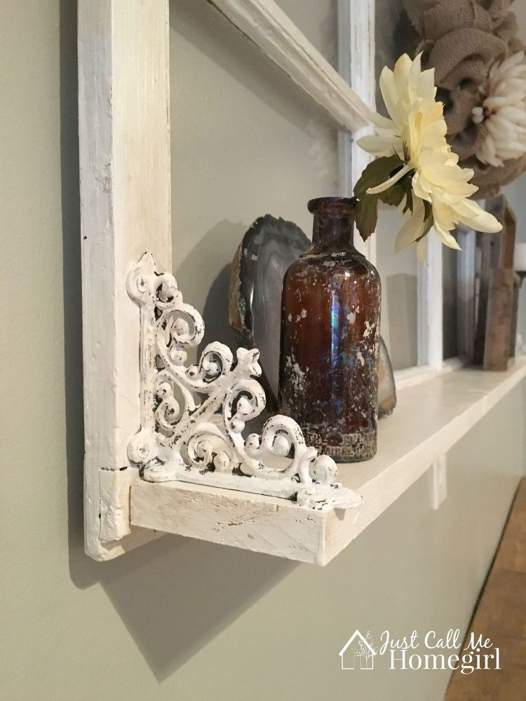Adding a Shelf to an Old Window | Old window projects, Old ...