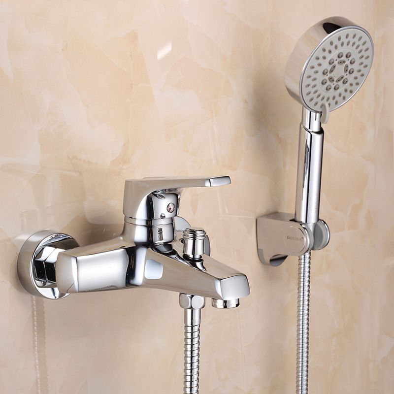 Wall Mounted Bathroom Faucet Bath Tub Mixer Tap With Hand Shower Head Shower Faucet Hot An Tub And Shower Faucets Shower Faucet Sets Wall Mount Faucet Bathroom