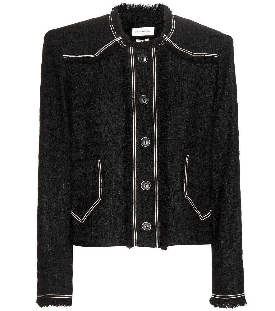 Isabel Marant étoile Ferris Cotton Blend Bouclé Jacket