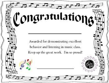 Award For The Music Classroom  Editable  Music Class Music