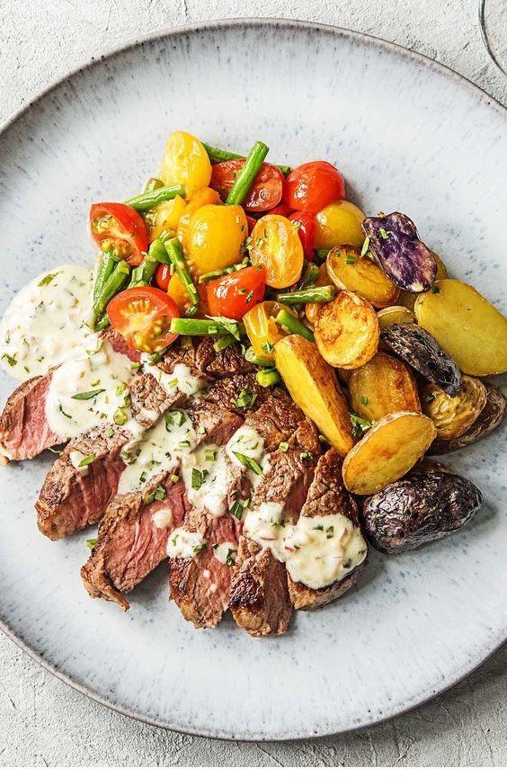 Grilled Steak Recipes  | Creamy Bearnaise Strip Steak #beefsteakrecipe