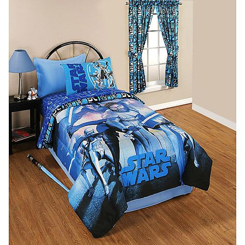 So Far This Is My Favorite Bedding Set My 5 Year Old Is More Partial To The Clone Wars Series Toddler Bed Set Star Wars Comforter Star Wars Kids Room