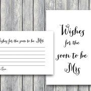 TH00-6x4-wishes-for-the-bride-card bridal shower activity blank lines