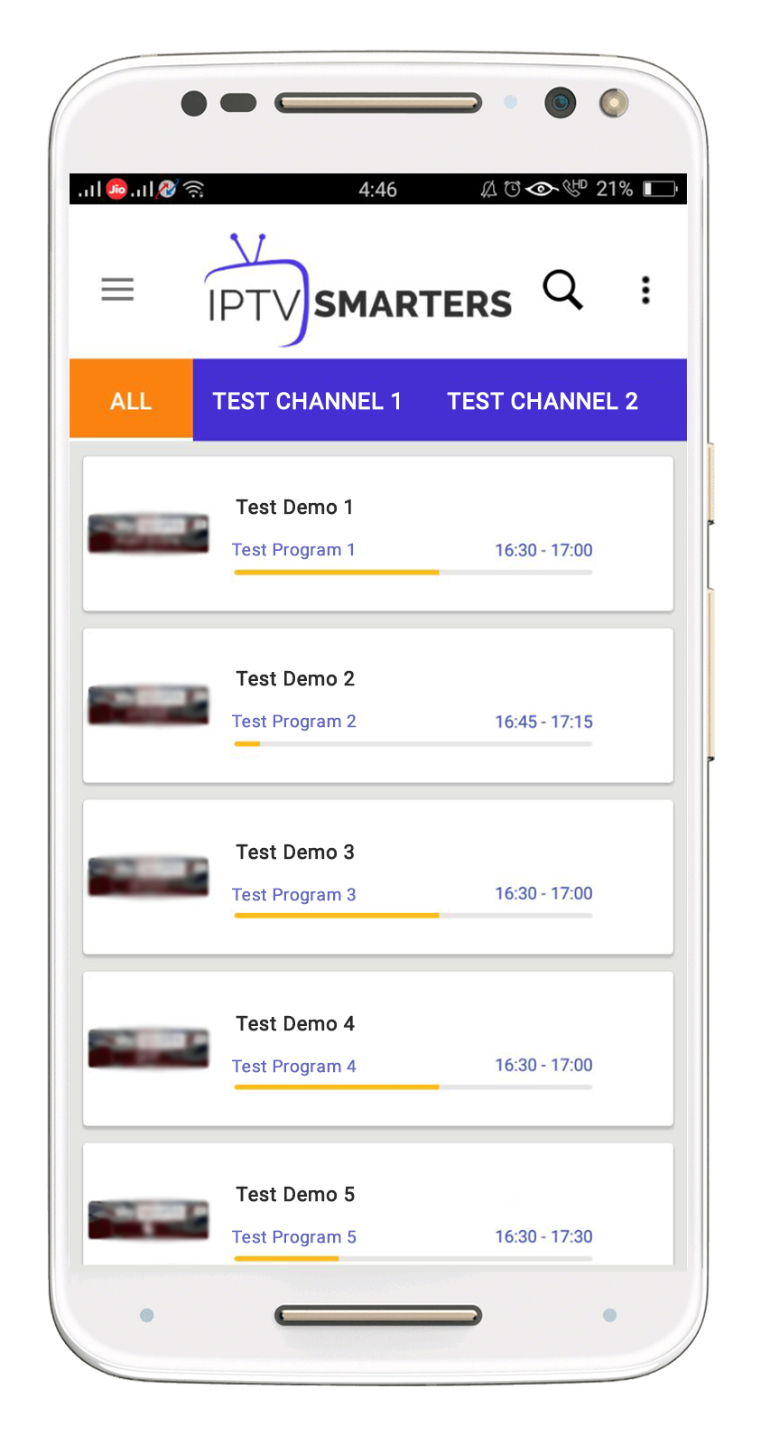 Hi Just would like to share we are offering an Android App for IPTV