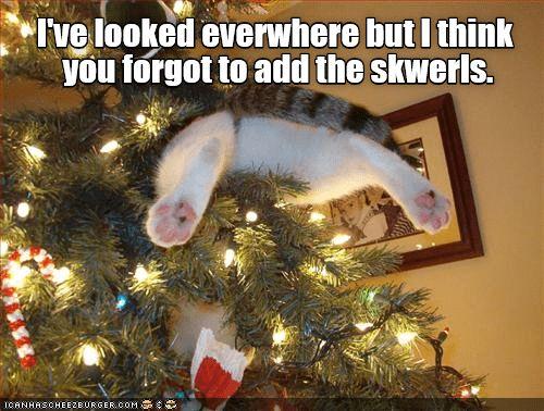 Wonderful Cat Christmas In Tree