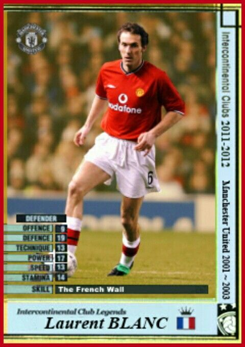 Intercontinental Club Legends card - Laurent Blanc.