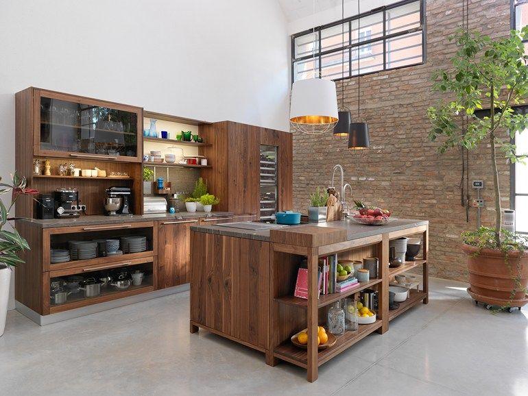 Cucina in legno con isola LOFT by TEAM 7 Natürlich Wohnen design