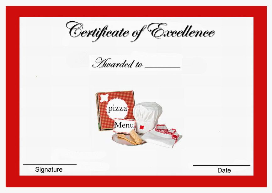 Pizza Themed Award Certificates | Themed Award Certificates - FREE ...