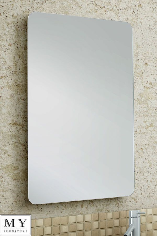 Classy and contemporary the Radius mirror oozes modern simplicity, the rounded edges and clean lines are the ideal way to introduce light into your home. It can be hung by its metal bracket at the top and features small adjustable screws that can alter the angle in relation to the wall. | eBay!